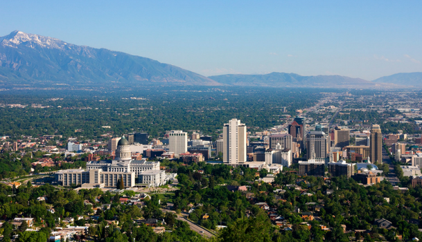 Salt Lake County Aerial View